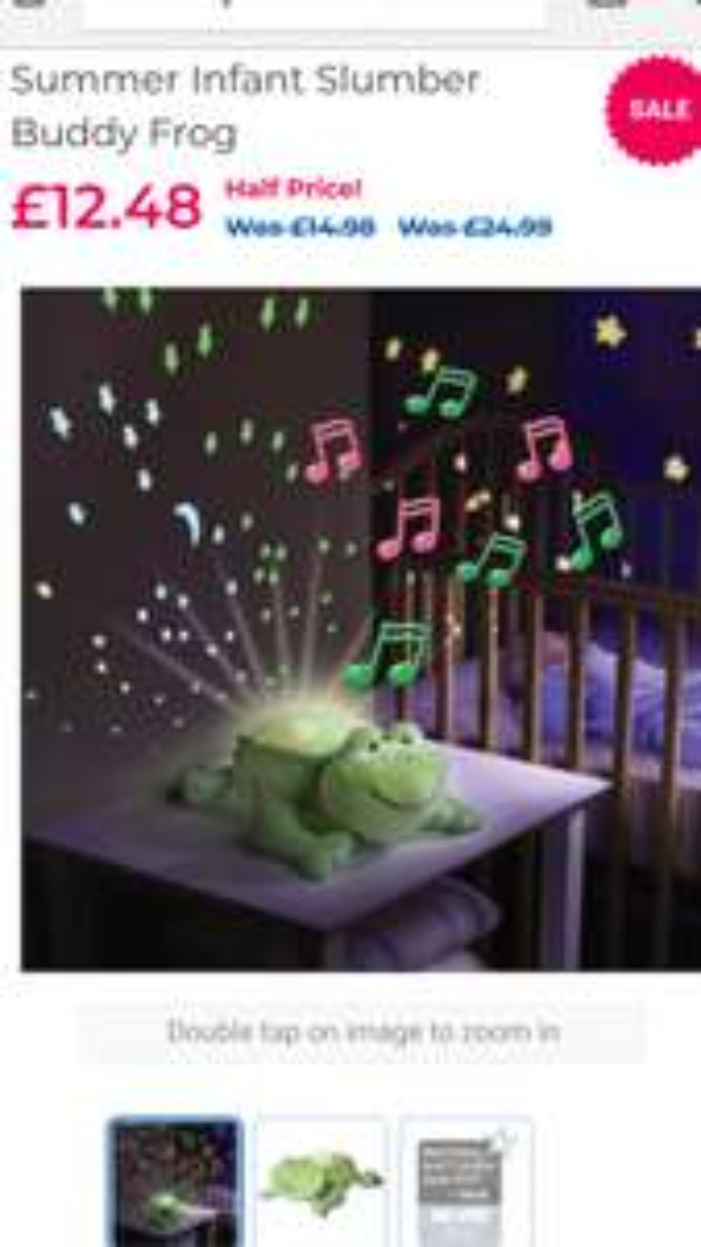 Summer Infant Slumber Buddy Frog 12.48 from £24.99 babiesrus C&C