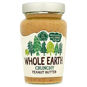 Whole Earth Crunchy Peanut Butter 340g x 6 £4.90 Add-on @ Amazon