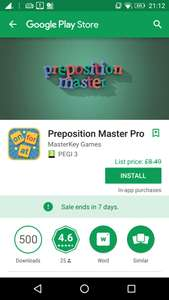 Preposition Master Pro, from £8.49p, but currently free (for 7 day) - with in-app purchases, at Google Play
