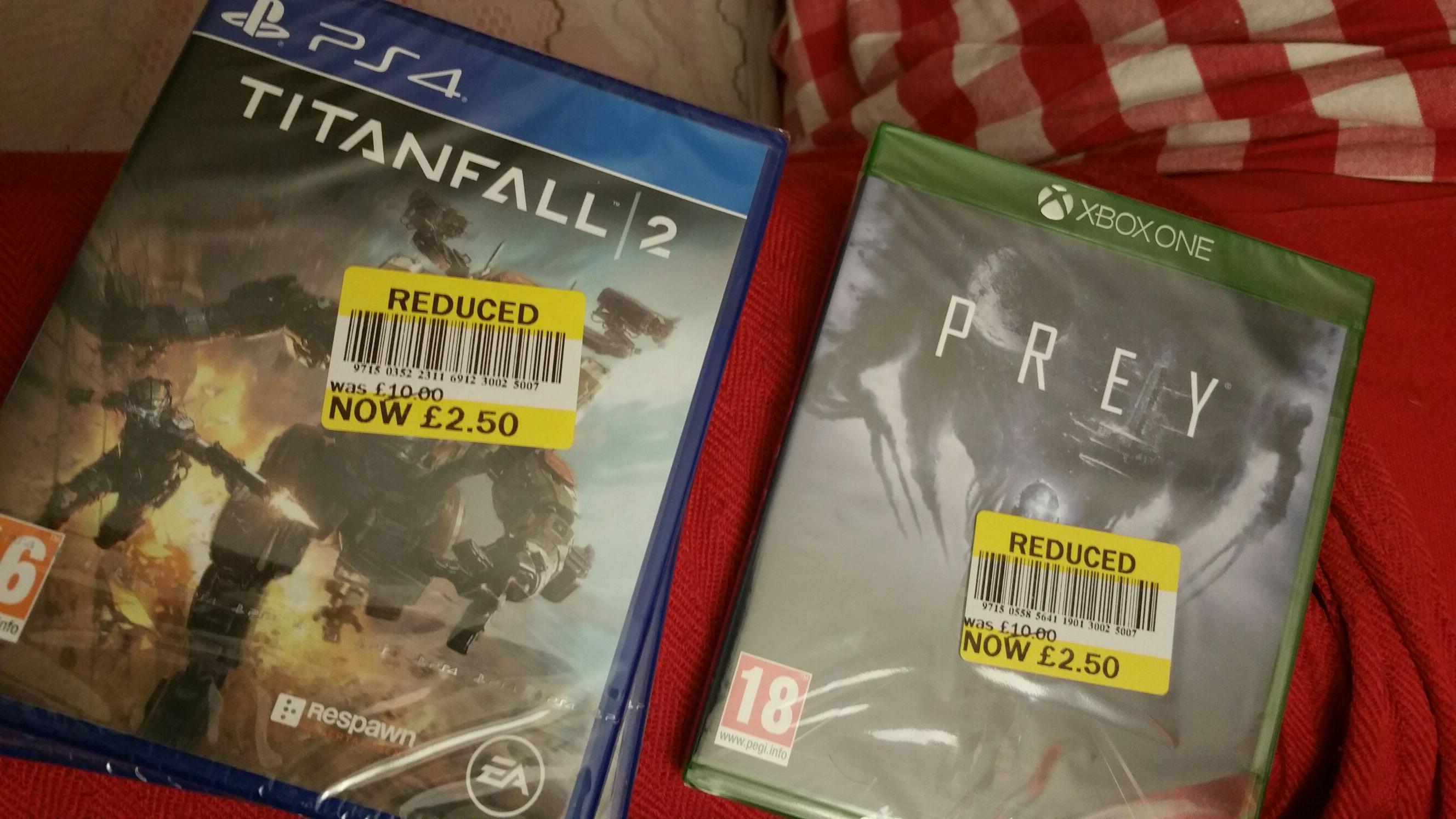 Titan fall 2 ps4 £2.50 and Prey XB1 £2.50 instore @ Tesco