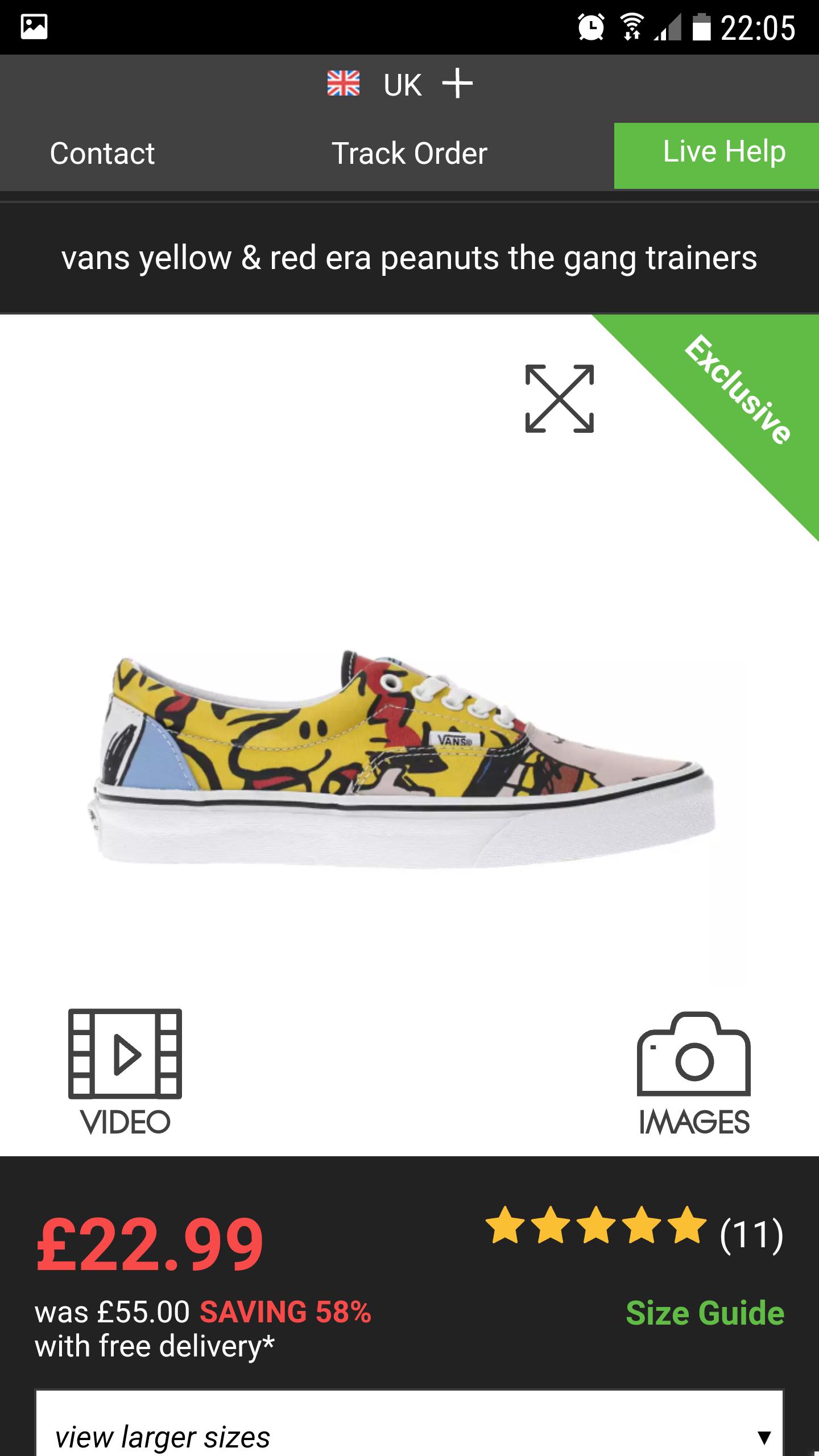 Schuh - Vans - Peanuts £22.99 from £55 C&C