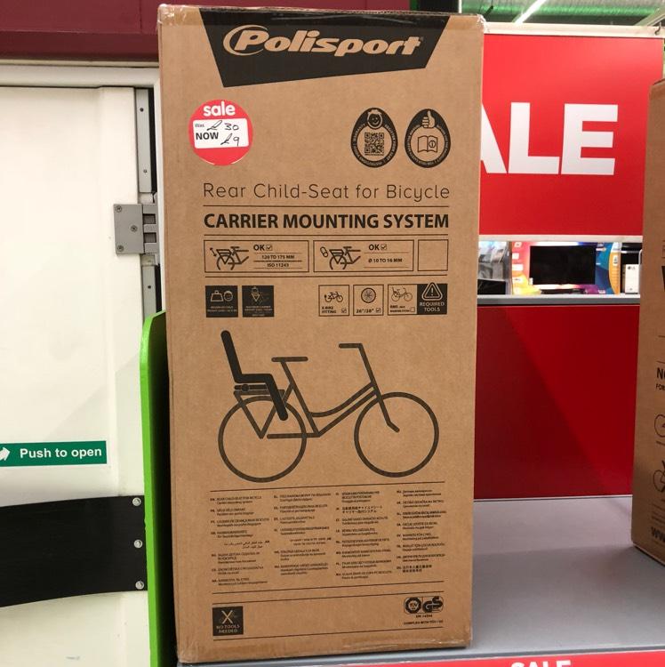 Asda Bike carrier seat £9 instore