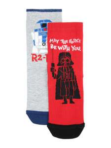 Boys pack of 2 star wars socks shoe size 9-12, £1.50 @peacocks,free c+ c