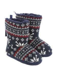 Boys fairisle blue slipper boots size 10-11 was £7, now £2.10 @ peacocks ,free c+c