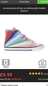 Schuh Baby All Star Ox Rainbow Converse £9.99