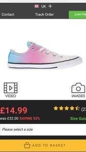 Schuh Youth ox sunset wash Converse £14.99. Only size 5