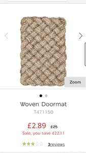 Marks and Spencer woven doormat. £2.89 down from £25