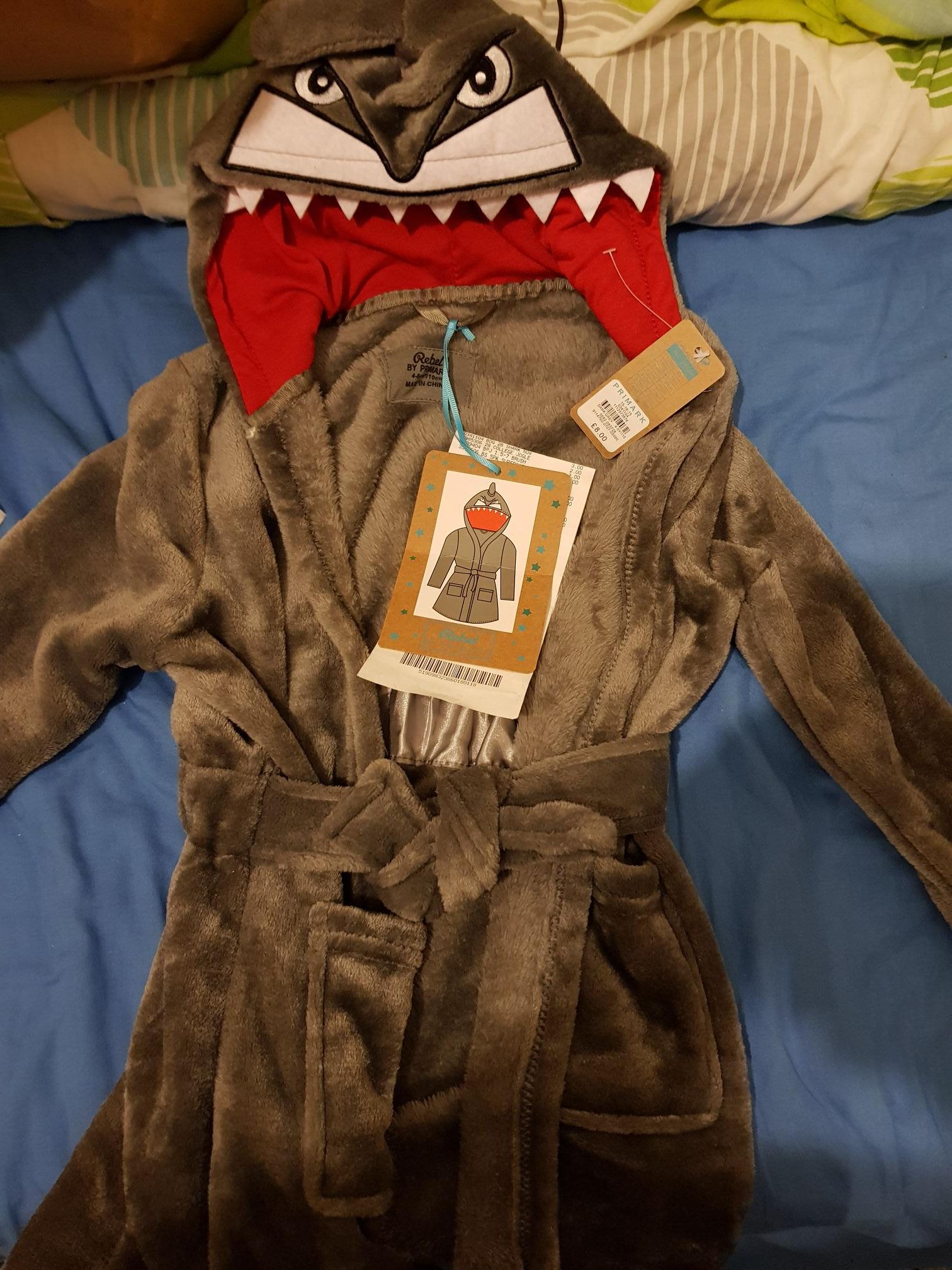 Boys shark dressing gown, £3 at Primark