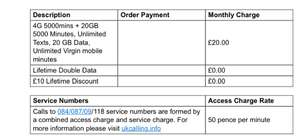 Virgin mobile deal for £10pm