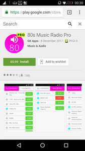 80s Music Radio Pro, from 99p, but currently free (I'm not sure how long/how many day's this will remain free for, as I've previously purchased it last year), at Google Play
