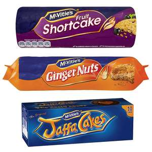 McVitie's Fruit Shortcake / Ginger Nuts / Jaffa Cakes - 50p each @ Morrisons