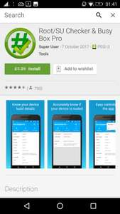 Root/SU Checker & Busy Box Pro, from £1.39p, but currently free (I'm not sure how long/how many day's this will remain free for, as I've previously purchased it last year), at Google Play