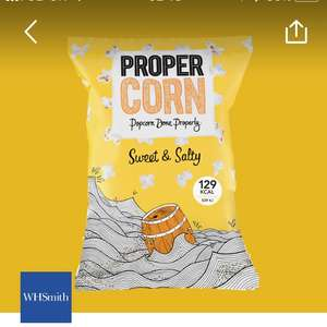FREE PROPERCORN POPCORN on O2 priority @ WHSMITHS