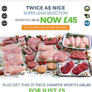 Buy muscle food meat bundle for £45, and get a second bundle for £5