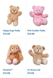 25% off selected bears @ Build a bear in store & online