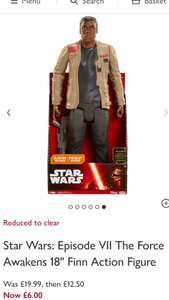 "John Lewis - Star Wars: Episode VII The Force Awakens 18"" Finn Action Figure £6.00 (+ £2 c&c or £3.50 delivery)"