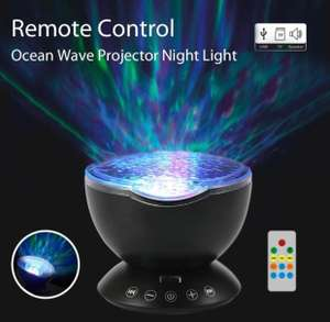 Umiwe Remote Control Ocean Wave Projector Night Light Lamp with Built-in Music Player [12 LED Beads, 7 Colorful Light Modes] £14.99 (Prime) / £18.98 (non Prime) Sold by MI-Thirteen and Fulfilled by Amazon.