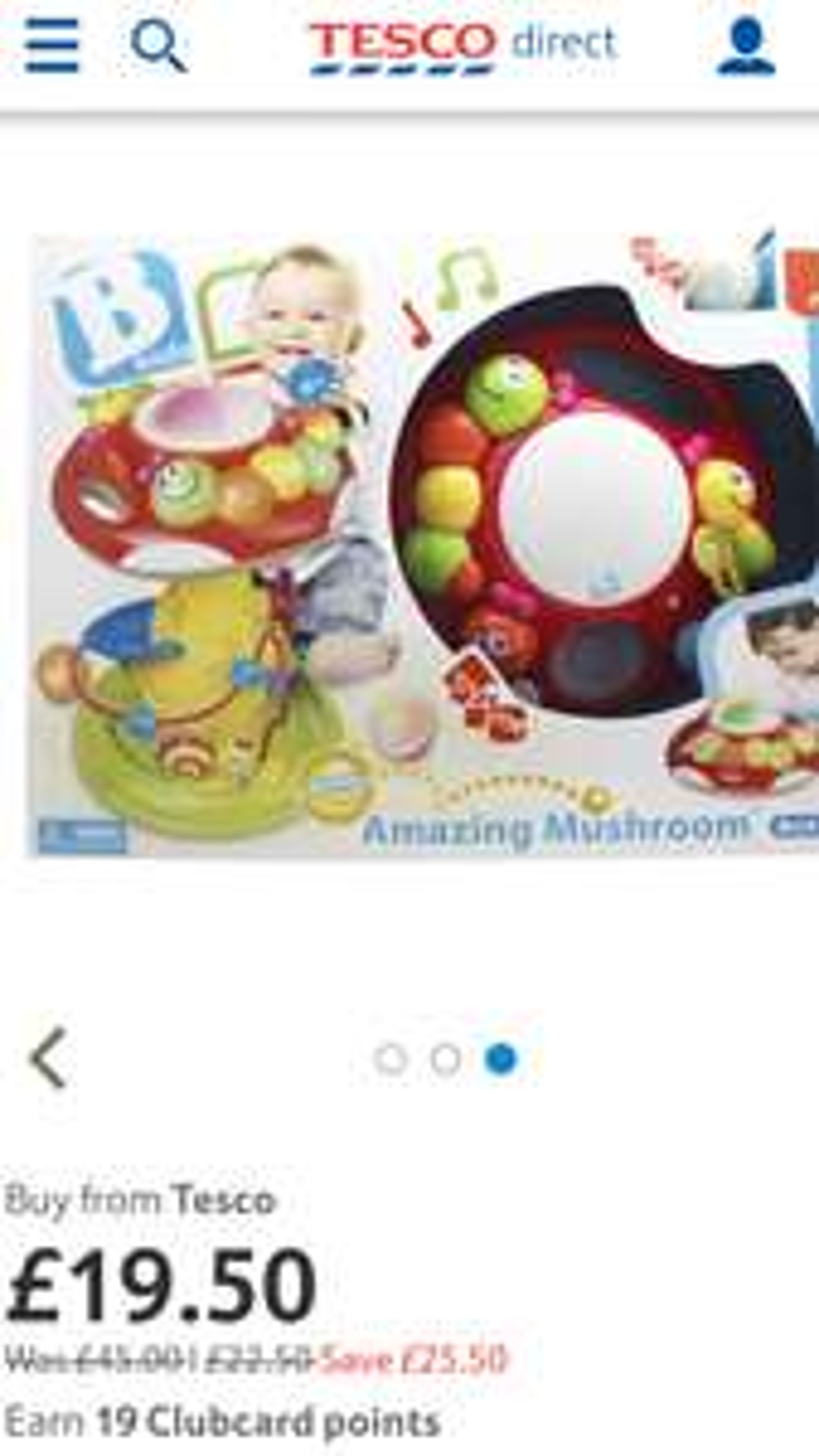 B Kids Rolling 'n Blinking Amazing Mushroom - £19.50 -Tesco Free C&C