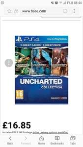 Uncharted: Trilogy (PS4) (Uncharted 1,2 and 3 box set) £16.85 at Base