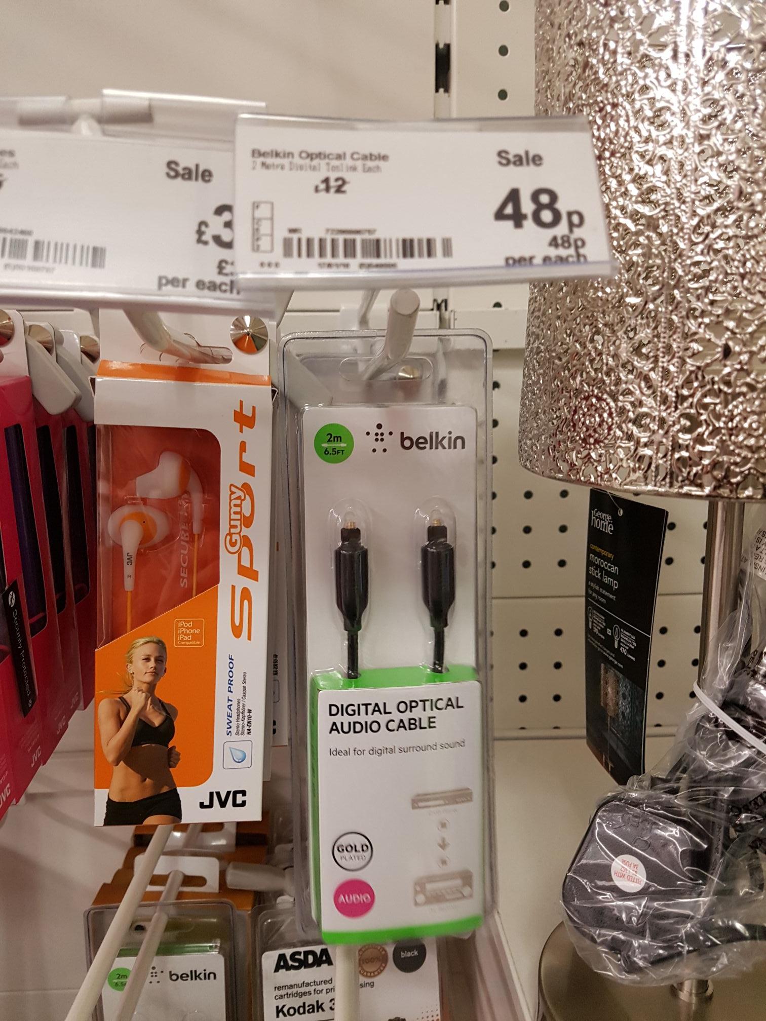 Belkin optical cable 48p at  asda instore (hunts cross)