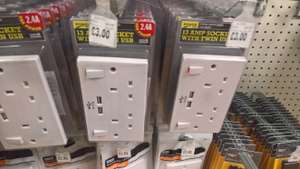 2.4a USB Double Socket £3 instore at Homebase Worcester