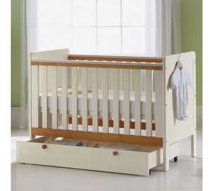 Classic 2 tone cot bed and storage drawer was £159.99 now £79.99 @ Argos