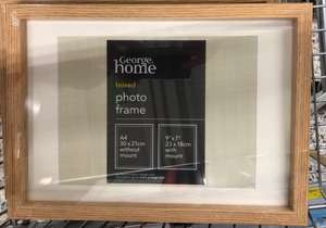 A4 boxed picture frame £1 at Asda instore (Bromborough)
