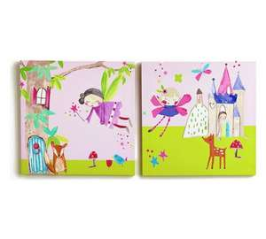Fairies themed 2 canvas pictures was 9.99 now £2.99 @ Argos,free c+c