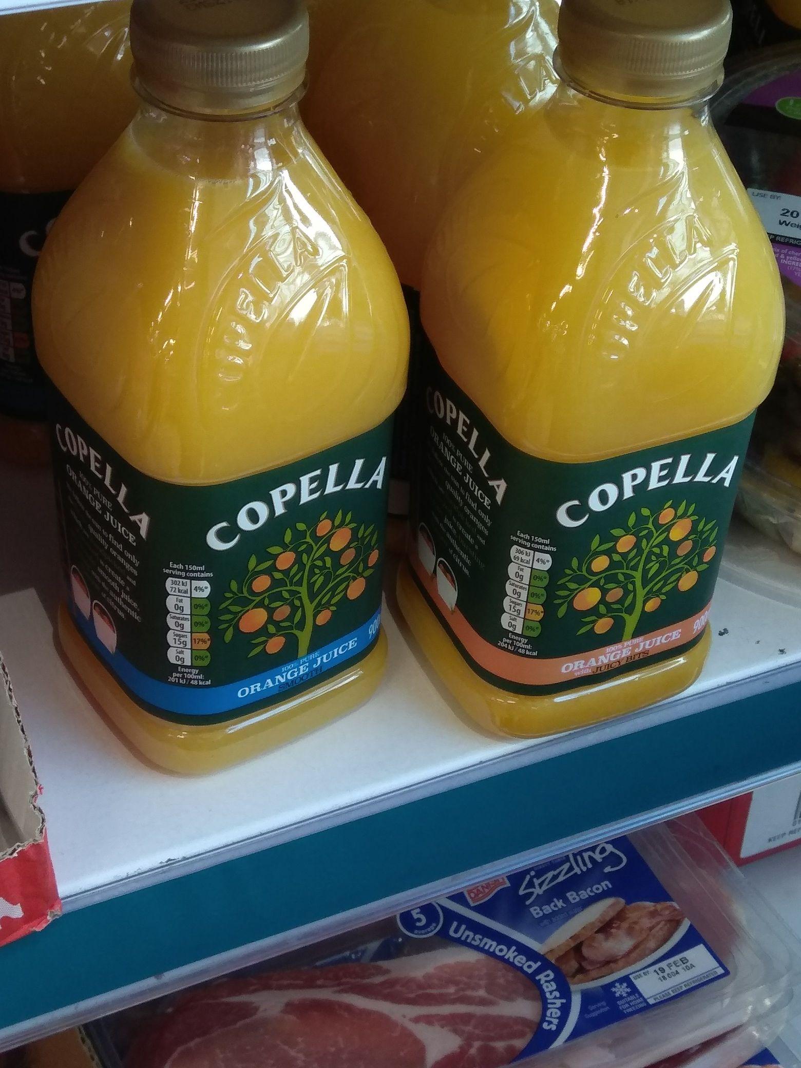 Copella 100% pure orange juice 900ml - £1 @ Poundland Leeds Crown Point