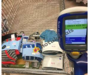 Tesco underwear glitch - half price on ticket scanning at extra 50% off  - from 4p instore @ Burnley