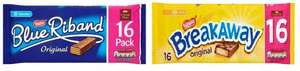 Nestle Blue Riband Original 16 x 19.3g and Nestle Breakaway 16 x 19.1g only £1.90 @ Asda