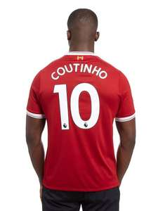 New Balance Liverpool FC Coutinho #10 2017/18 Home Shirt M £40 - JD Sports