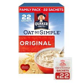 Quaker Oat So Simple Family Pack Original Porridge 22x27g pack for £1.99 from Waitrose