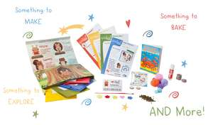 Free kids weekend box activity box for 3-8 year olds subscription required but can be cancelled