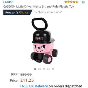 Hetty sit and ride on Toy  £11.25  (Prime) / £16 (non Prime) at Amazon