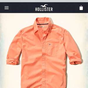 Hollister Solid Poplin Shirt was £29 now £4.99 + £5 delivery  hollisterco.com