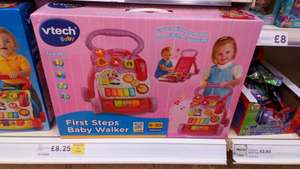 Vtech first steps baby walker - pink instore at Tesco (Uttoxeter) for £8.25