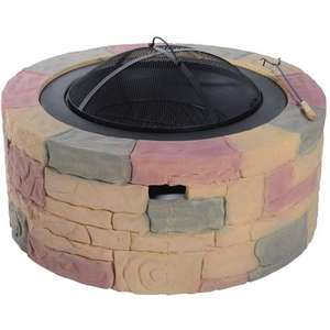 Outsunny Outdoor Fire Pit Fibreglass Stone Effect Heater Round Bowl Cement Stone Dia. 68cm was £99.99 now £35.99 Del @ manomano (sold by Aosom) - all in pic included