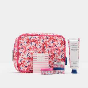 Joules Mini Washbag in Pink + Emergy Board + Hand Cream + Lip Balms £6.30 at Ebay outlet