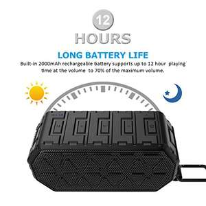 Esonstyle Waterproof (IP66) Bluetooth Speaker £5.99 prime/ £9.98 non prime @ Amazon