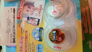 Nuby UberSoother - selfie (pack of 2 soothers) for 0.57p at Boots