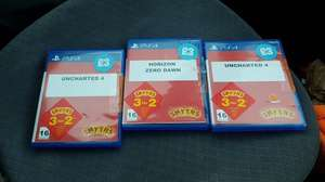 PS4 games without covers 3 for 2 so £6 or £3 each @Smyths