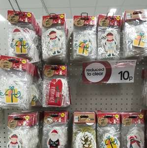 8pk of Xmas gift tags 10p in Wilkinson's Clydebank