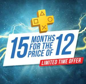 Get 15 months of PlayStation Plus for the price of 12 months £50