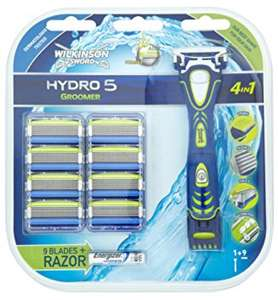 Wilkinson sword hydro 5 groomer & 9 blades SUPER SAVE 70% @ Boots scanned for 11p