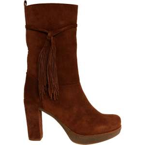 UNISA  Brown Suede Heeled Calf Boots - Sizes 6/7 - £24 @ TK Maxx (£3.99 del or £1.99 C&C)
