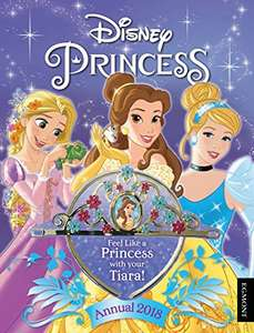 Disney princess annual 2018 with tiara £1 with prime (or free delivery >£10 non-Prime) @ Amazon