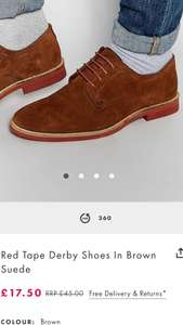 Red Tape Derby Shoes In Brown Suede £17.50 ASOS (Plus £3 P&P)
