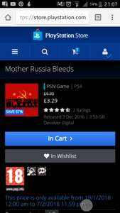 Mother Russia Bleeds on PS4 for £3.29