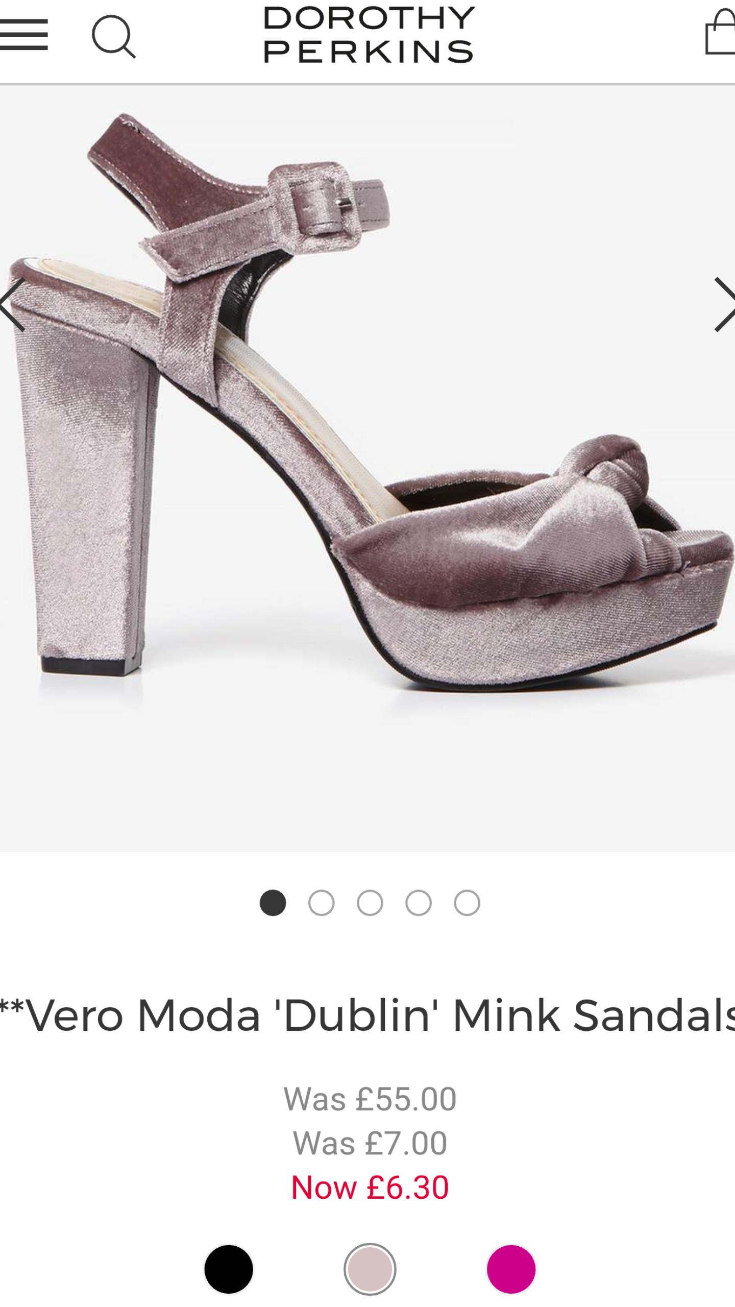 Vero Moda 'Dublin' Mink Sandals - Dorothy Perkins - £6.30 (free C&C)